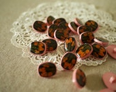 Vintage - 10 Pretty Pink Tiffany Buttons