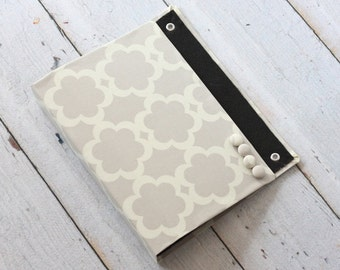 Large Wall Organizer Pocket, Magnet Board, File and Mail Holder - Tarika in Neutral Fabric