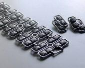 vintage Modernist bracelet cuff earrings set . architectural mid-century modern gladiator chunky textured silver metal estate demi parure