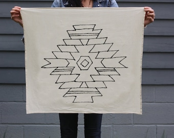 ARIZONA Tea Towel - Screen Printed Organic Cotton Flour Sack Towel - Soft and Absorbent Dish Towel - The Southwest Collection