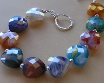 4 My Luv Glass Heart Bracelet