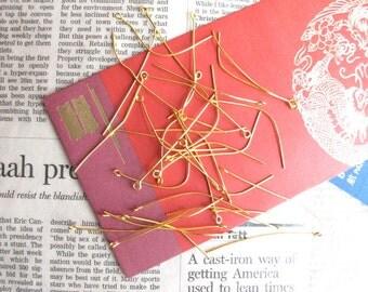 2 inch Eye Pins - Golden - 200 pcs