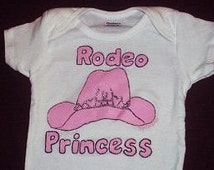 Rodeo Princess Baby Bodysuit, Cowgirl Baby Outfit, Cowgirl Princess Baby, Western Baby Girl Clothes