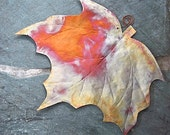 Maple Leaf Wall Hanging Eco Friendly Copper Metalwork Autumn Leaves Home Decor - RoughMagicCreations