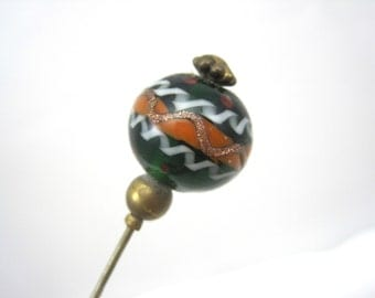Victorian Hat Pin - Antique Murano Glass