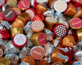 88 Hershey Kiss Labels  - Stickers for Candy Kisses - Thanksgiving Hostess Gift - Fall Party Favor - Thanksgiving Party Favor