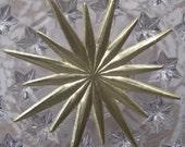 Dresden Trim 3 Gold Stars Germany Die Cut Paper Foil Christmas