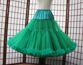 Petticoat Emerald Green Organdy Size X-Small Custom