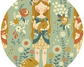 Teagan White for Birch Organic Fabrics, Fort Firefly, Penny's Garden, 1 YARD
