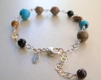 multicolored stone bracelet