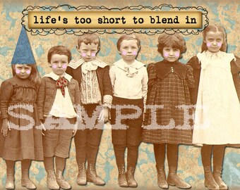 Digital Collage Sheet Vintage Children group Images Postcard Images (Sheet no. O63) instant Download