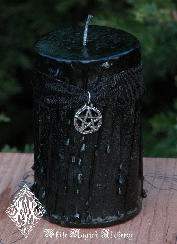 Witches Magick Candle 2x3 Pillar . Sacred Ritual, High Magick, Protection, Luck, Love, Money, Clearing, Positive Energy, Banishing