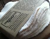 Preorder Organic Unbleached Cotton Flannel Alternative to Disposable Facial Poufs - 12 Rounds and BONUS Wash Bag