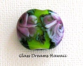 Floral Glass Focal Bead, ...