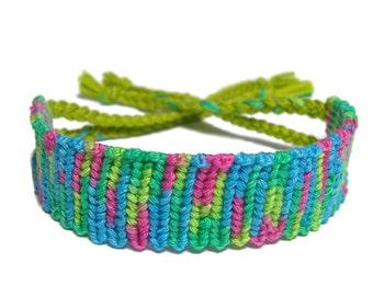 Friendship Bracelet tie dye style color mix