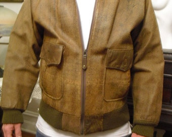 Quick Sale Reduced   Vintage Aviator Bomber Pilots 1960's 1970's Jacket By Stefano The American line