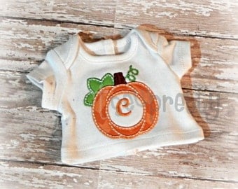 Doll/Mommy Monogram Pumpkin Applique Design Set