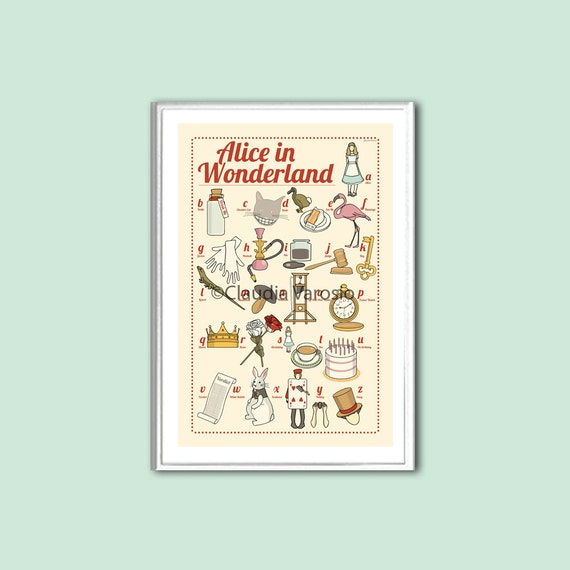 Alice in Wonderland: the illustrated ABC 6x4 inches small print