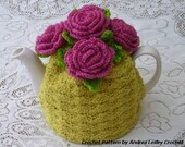 Pattern for Crochet Rose Tea Cosy  (Instant download)