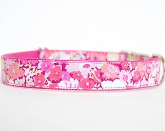 Liberty of London Dog Collar - Fuchsia Floral