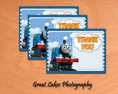 Printable DIY Thomas the Train Thank You Card (Instant Download)