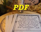 Basic BOS Sheets -- 131 pages --  PDF format-- Book of Shadows pages by Asteria Books