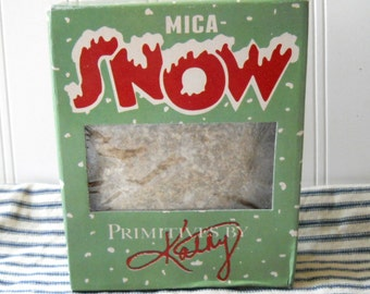 Mica flakes Mica snow flakes for crafting glitter supply vintage Christmas style