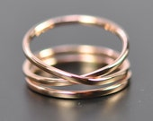Rose Gold Infinity Plus One 14K Gold Ring Set, Stacking Rings, Love Gift for Her, sizes 9.25-12 this listing, Sea Babe Jewelry