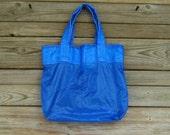 Ripstop Nylon Parachute Tote Bag Medium Royal Blue Slider