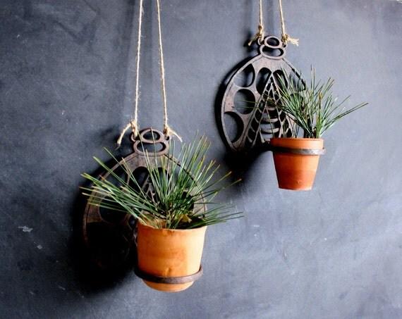 vintage cast iron ladybug wall decor candle holder or planter. Black Bedroom Furniture Sets. Home Design Ideas
