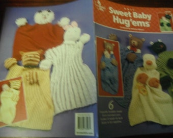 Knitting Patterns Leaflet Sweet Baby Hug'ems Annie's Attic 873598 Michele Wilcox Knit Pattern Leaflet