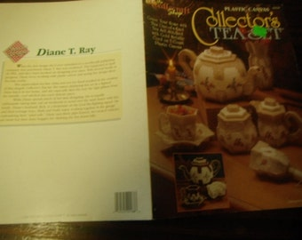 Teapot Plastic Canvas Patterns Collector's Tea Set Needlecraft Shop 923339 Plastic Canvas Pattern Leaflet