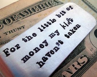 Father Money Clip - Personalized Money Clip - Aluminum Money Clip - For the Little Bit of Money