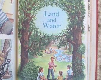 Vintage Child Reader School Book Teachers Edition Science Animals Nature Plants