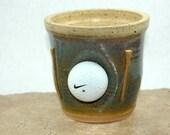 SALE Golf Ball Pencil Holder - Coin Pot - Tooth Brush Holder - Shaving Brush Holder