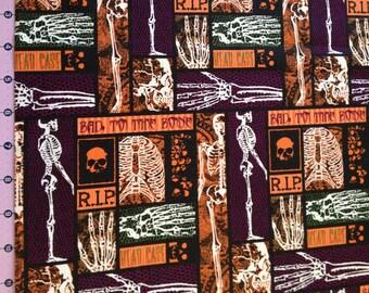 Bad To The Bone Halloween Fabric By Yard
