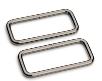 """50pcs - 2"""" Metal Square Ring - Black Nickel - (SQUARE RING SRG-135)"""