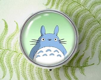 A Fantastic Encounter - Tonari no Totoro -  original art pill box - single or triple compartment