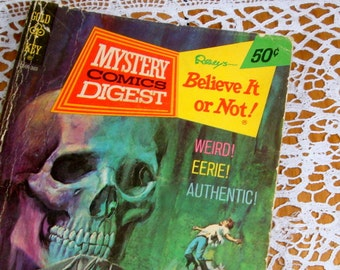 Ripleys Believe It Or Not, Mystery Comic's Digest, Skull, Weird, Eerie, Authentic, 1973