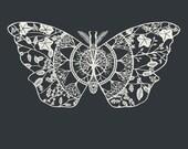 "Polyphemus Moth Paper-Cut Art Print 12"" x 12"""