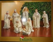 Porcelain Nativity Figurines Set Christmas Retired New In Box Dillard's Trimmings