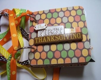 Thanksgiving Mini Scrapbook Album, Thanksgiving Mini Album, Thanksgiving Scrapbook, Thanksgiving Photo Album, Thanksgiving Brag Book