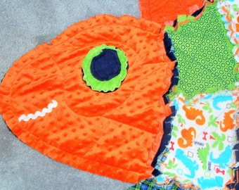 My Dinosaur Rag Quilt
