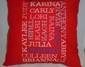 Keepsake Mother Family Pillow
