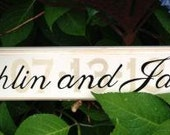 Personalized Hand-painted Wedding Date Sign