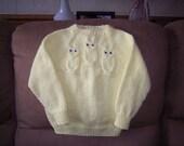 Yellow Owl Raglan Sweater Size 4