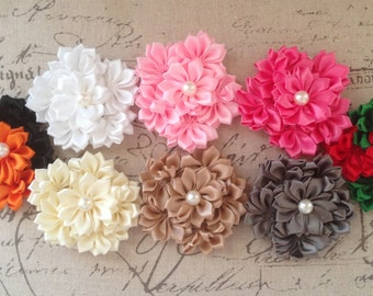 New-FLOWERS-CLUSTER With Pearl Center-3 inches Wide-Choice of 8