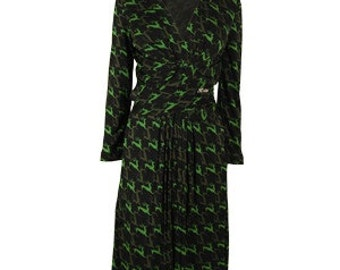 Gorgeous Gucci Stag Deer Print Dress 1940s style