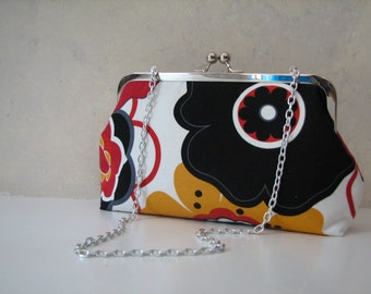 KLEO - Floral Modern Clutch with Chain Strap