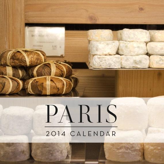 SALE, 2014 Calendar, Paris Calendar, Paris Photography by Nichole Robertson, French Calendar